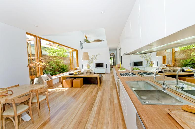 Timber light material benchtop