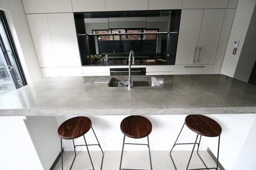Concrete kitchen benchtop