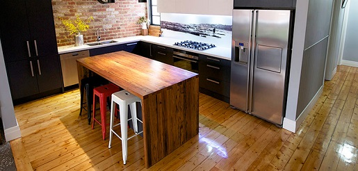 Hardwood Kitchen benctop